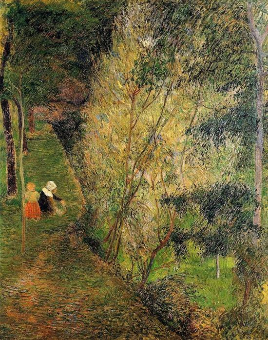 高更 Gauguin - Pont-Aven Woman And Child