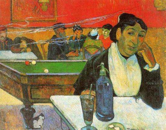 高更 Gauguin - NIght Cafe in Arles (Madame Ginoux)