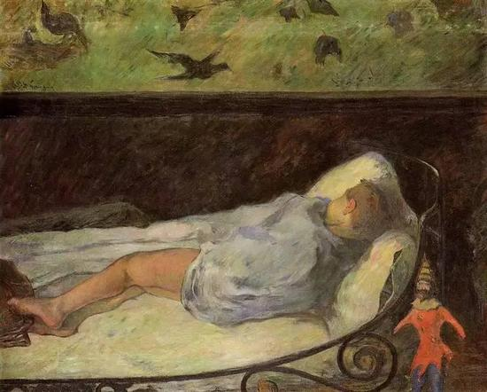 高更 Gauguin - Young Girl Dreaming (Study Of A Child Asleep)