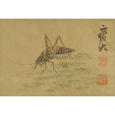 齐白石(款) 草虫