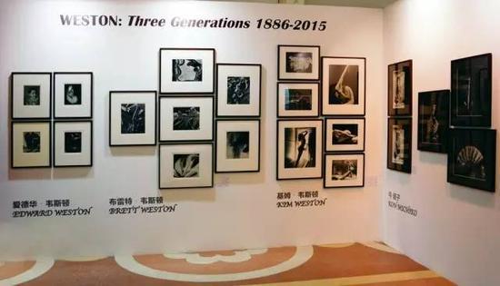 泰吉轩画廊在 2015 年 Photo Shanghai 影像博览会展出三代韦斯顿摄影艺术家的作品