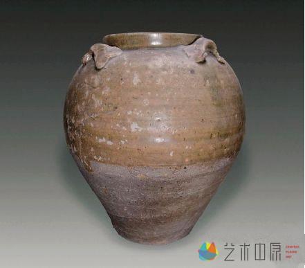 唐 越窑青瓷四系罐