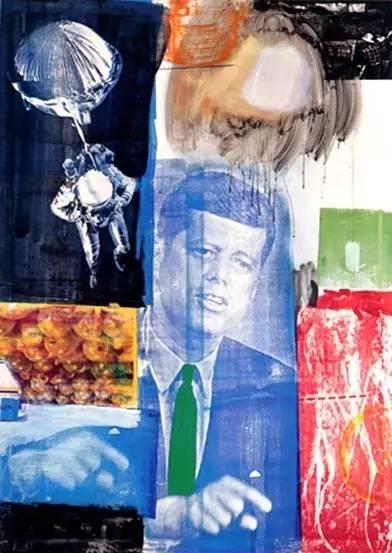 罗伯特·劳森伯格《追溯 I》(Retroactive I),1964年,图片来源:劳森伯格基金会