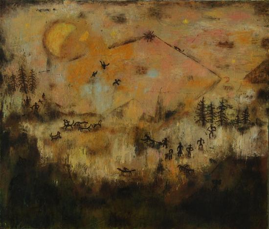 林銮崇 《十七分之十五》布面油画60cmx50cm
