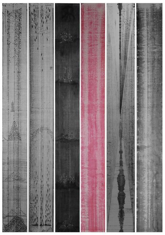 刘光旺《天空——房.鱼.山.色.玄.水》26+241cm 纸本水墨  2016