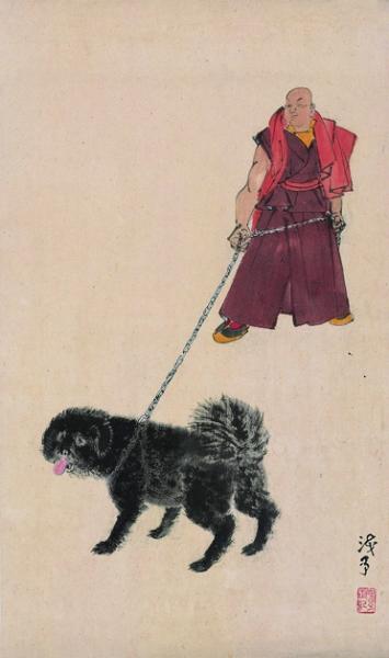 高原獒犬(国画)  1945年  叶浅予