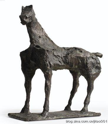 2014年香港蘇富比春拍铜雕《立马》,作品3/8,51×29×52厘米,成交于93.75万港元