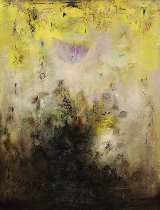赵无极,《月光漫步》 , 1954-1955 年作,油彩画布,估价: 40,000,000 – 60,000,000 港元