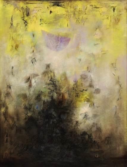 赵无极( 1921 – 2013),《月光漫步》    1954–1955 年作,油彩画布, 117 x 88.5 公分