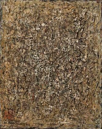 陈荫罴( 1913 – 1995),《光的低语》    约1950年代作,油彩、复合媒材画布, 76 x 61 公分