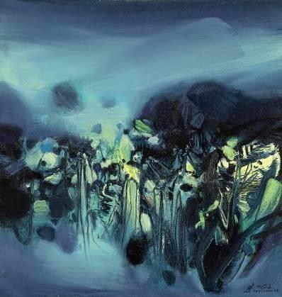 朱德群(1920 – 2014),《构图第 285 号》    1968年作,油彩画布, 65 x 62 公分