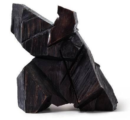 朱铭(1938年生),《太极系列:单边下势》    1982 年作,木雕, 35 x 47 x 46 公分