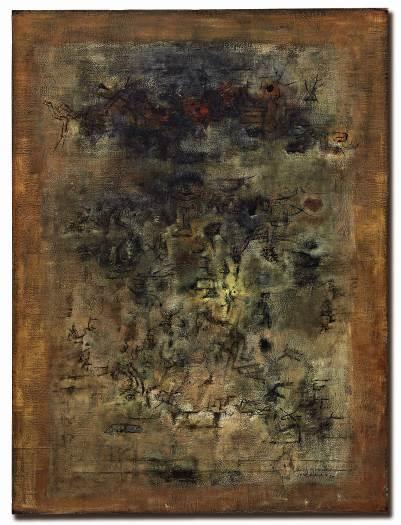 赵无极,《他乡》    1955 年作,油彩画布,130 x 97 公分
