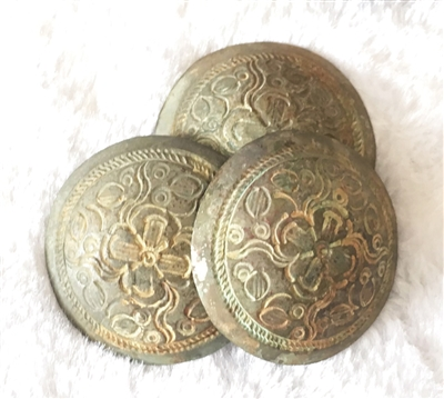 陈先生收藏的清代银质马鞍花