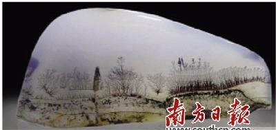 海玉水草花《古塔春晴》,洛阳赏石协会供图