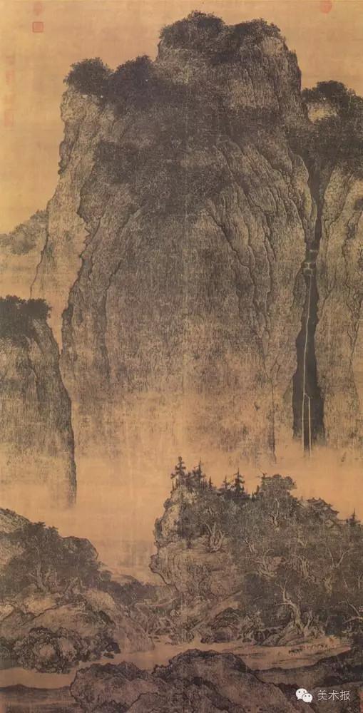 范宽(北宋) 溪山行旅图(绢本设色)206×103厘米台北故宫博物院藏