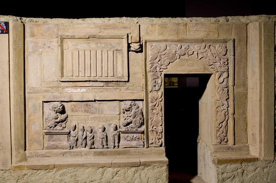 侯马金墓砖雕