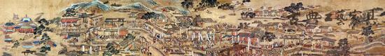 明 仇英 《南都繁会图》 ,朱由校也曾想励精图治,恢复当初的大明盛世。