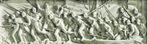 刘开渠创作于1958年的《胜利渡长江,解放全中国》(人民英雄纪念碑浮雕)