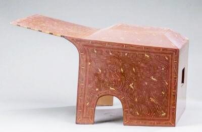 西汉彩绘漆面罩复制品