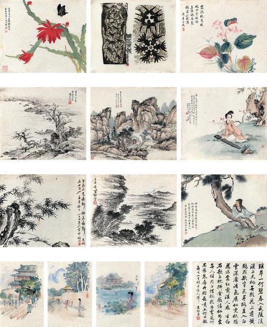 蒋兆和、刘凌沧、萧愻等十二家 花鸟·山水·人物·书法·木刻版画-2 RMB28-38万