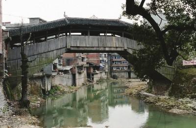 薛宅桥1856年修复后,曾是木拱廊桥的佼佼者