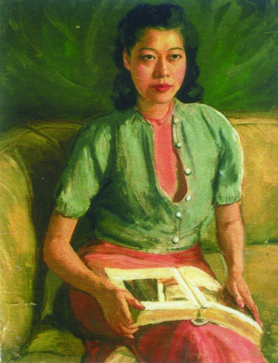 刘素薇肖像 (油画) 1942年 李铁夫