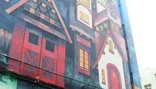 居民楼变彩绘楼吸引路人眼球
