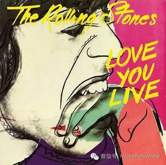 1977年,他为滚石乐队的专辑《love you live》设计的封面