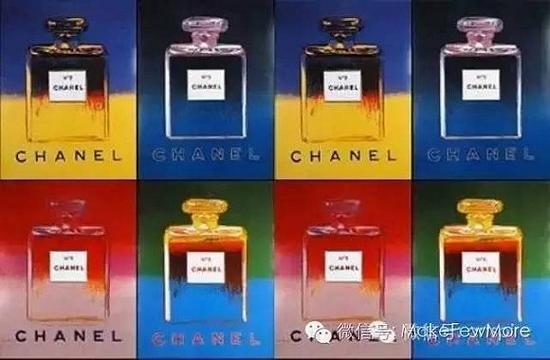 安迪・沃霍尔创作的chanel5号香水海报