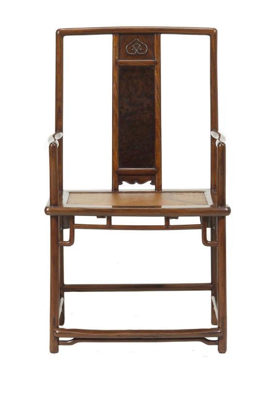 黃花梨形南官帽椅四張成堂-2▲黄花梨扇形南官帽椅四张成堂(其一)