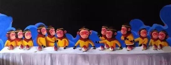 艺术家陈建周的《西游记》系列