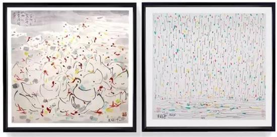 (左) 吴冠中系列版画 | 生灵,图片由造作(ZAOZUO)提供 (右) 吴冠中系列版画 | 四季,图片由造作(ZAOZUO)提供