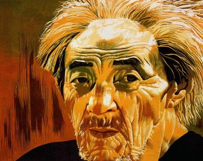 贵州人之二(版画) 28×37厘米 1988年 王华祥