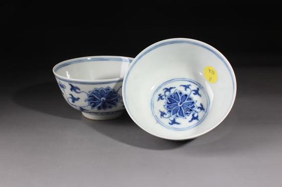 青花缠枝花卉碗