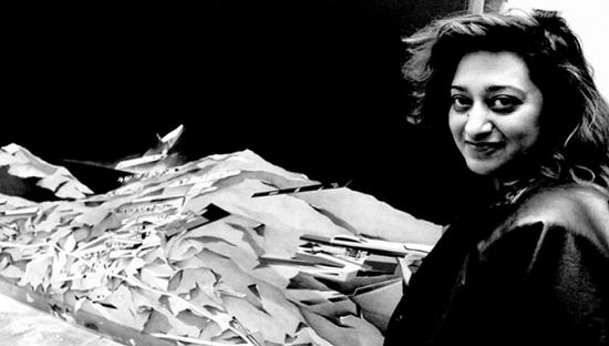 扎哈·哈迪德于今年3月去世,这是她1983年的照片。摄影:Garry Weaser for the Guardian
