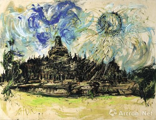 阿凡迪《婆罗浮屠与太阳》 成交价:980万港币