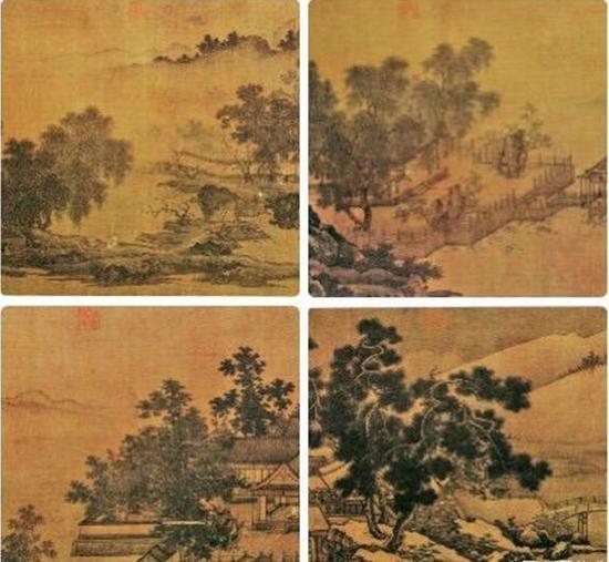 《四景山水图》卷