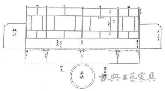 图3《五山十刹图》中的方丈坐床示意图