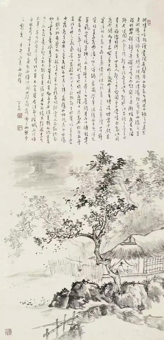 溥儒 《秋声赋》    纸本镜心 尺寸:68×33cm