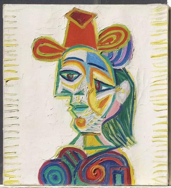 巴布罗·毕加索《女人半身像》,1938年,图片来源:佳士得