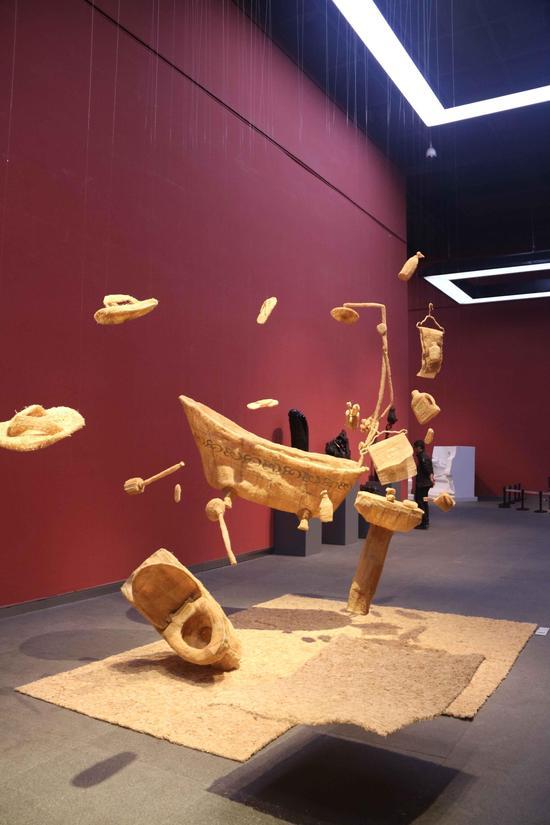 现场雕塑作品