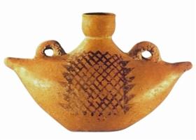 (图1)新石器时代仰韶文化船形彩陶壶