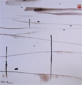 图1 吴冠中《田园风貌》