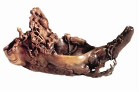 (图3)明代犀角槎杯,上海博物馆藏。