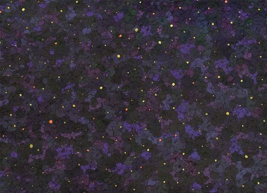 星空丙烯手绘图片