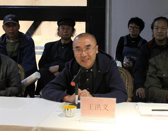 上海大学美术学院教授、艺术理论家王洪义先生