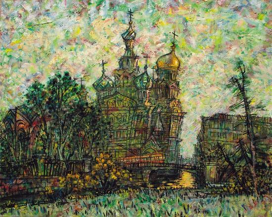 李秀实 圣彼得堡的回忆;1994年国美术作品展 优秀作品奖 1994