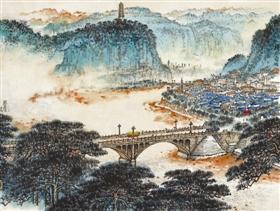 钱松嵒《延安颂》,在南京经典2011秋拍会上以563.5万元成交