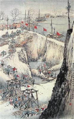 钱松嵒《筑坝》,在中国嘉德96秋拍会上以9.68万元成交